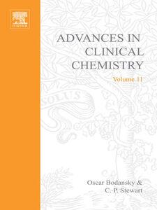 Foto Cover di ADVANCES IN CLINICAL CHEMISTRY VOL 11, Ebook inglese di  edito da Elsevier Science