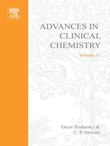 Ebook in inglese ADVANCES IN CLINICAL CHEMISTRY VOL 11 -, -