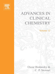 Ebook in inglese ADVANCES IN CLINICAL CHEMISTRY VOL 12 -, -