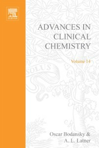 Ebook in inglese ADVANCES IN CLINICAL CHEMISTRY VOL 14 -, -