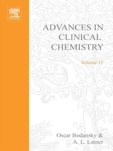 Ebook in inglese ADVANCES IN CLINICAL CHEMISTRY VOL 15 -, -