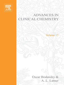 Foto Cover di ADVANCES IN CLINICAL CHEMISTRY VOL 17, Ebook inglese di  edito da Elsevier Science