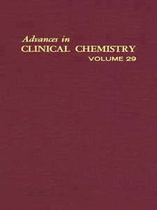 Ebook in inglese ADVANCES IN CLINICAL CHEMISTRY VOL 29 -, -