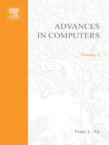 Ebook in inglese ADVANCES IN COMPUTERS VOL 2 -, -