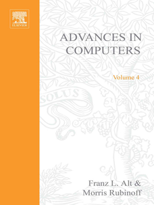Ebook in inglese ADVANCES IN COMPUTERS VOL 4 -, -