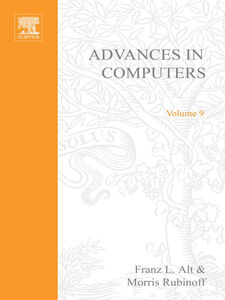 Ebook in inglese ADVANCES IN COMPUTERS VOL 9 -, -