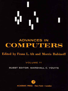 Ebook in inglese ADVANCES IN COMPUTERS VOL 11