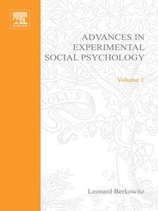 Foto Cover di ADV EXPERIMENTAL SOCIAL PSYCHOLOGY,VOL 1, Ebook inglese di  edito da Elsevier Science