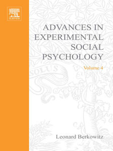 Ebook in inglese ADV EXPERIMENTAL SOCIAL PSYCHOLOGY,VOL 4 -, -
