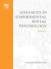 ADV EXPERIMENTAL SOCIAL PSYCHOLOGY,VOL 4