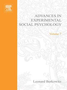 Foto Cover di ADV EXPERIMENTAL SOCIAL PSYCHOLOGY,VOL 7, Ebook inglese di  edito da Elsevier Science