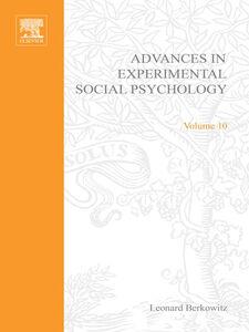 Ebook in inglese ADV EXPERIMENTAL SOCIAL PSYCHOLOGY,V 10