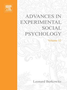Ebook in inglese ADV EXPERIMENTAL SOCIAL PSYCHOLOGY,V 12 -, -