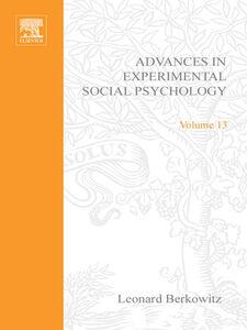 Ebook in inglese ADV EXPERIMENTAL SOCIAL PSYCHOLOGY,V 13 -, -