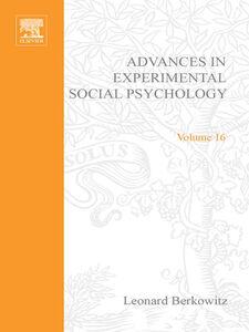 Foto Cover di ADV EXPERIMENTAL SOCIAL PSYCHOLOGY,V 16, Ebook inglese di  edito da Elsevier Science