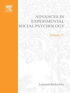 Ebook in inglese ADV EXPERIMENTAL SOCIAL PSYCHOLOGY,V 17 -, -