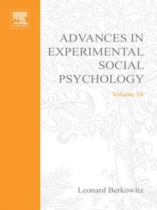 Ebook in inglese ADV EXPERIMENTAL SOCIAL PSYCHOLOGY,V 18 -, -