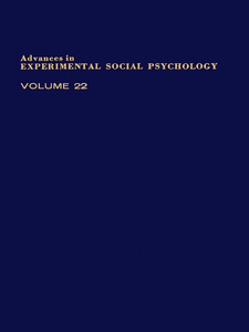 Ebook in inglese ADV EXPERIMENTAL SOCIAL PSYCHOLOGY,V 22 -, -