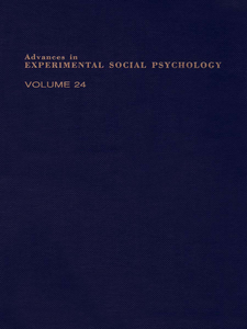 Ebook in inglese ADV EXPERIMENTAL SOCIAL PSYCHOLOGY,V 24 -, -