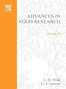Foto Cover di ADVANCES IN FOOD RESEARCH VOLUME 6, Ebook inglese di  edito da Elsevier Science