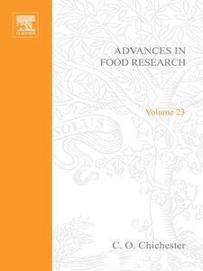 Foto Cover di ADVANCES IN FOOD RESEARCH VOLUME 23, Ebook inglese di  edito da Elsevier Science