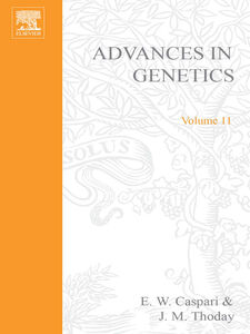 Ebook in inglese ADVANCES IN GENETICS VOLUME 11 -, -