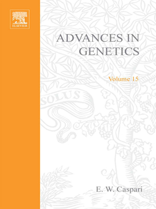 Ebook in inglese ADVANCES IN GENETICS VOLUME 15 -, -
