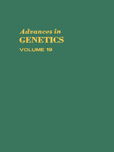 Ebook in inglese ADVANCES IN GENETICS VOLUME 19 -, -