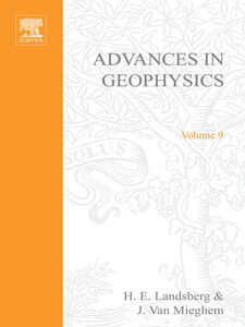 Ebook in inglese ADVANCES IN GEOPHYSICS VOLUME 9 -, -