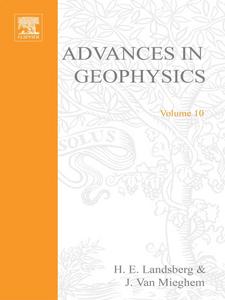 Ebook in inglese ADVANCES IN GEOPHYSICS VOLUME 10 -, -