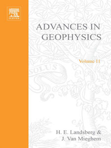 Ebook in inglese ADVANCES IN GEOPHYSICS VOLUME 11 -, -