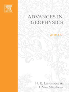 Ebook in inglese ADVANCES IN GEOPHYSICS VOLUME 13 -, -