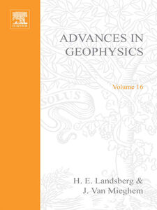 Foto Cover di ADVANCES IN GEOPHYSICS VOLUME 16, Ebook inglese di  edito da Elsevier Science