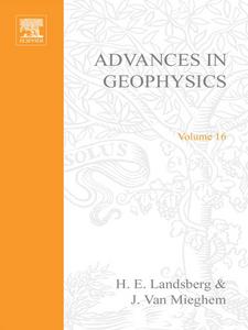 Ebook in inglese ADVANCES IN GEOPHYSICS VOLUME 16 -, -