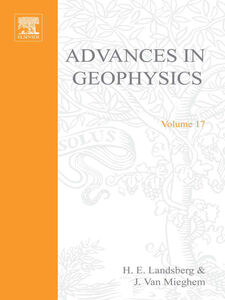 Foto Cover di ADVANCES IN GEOPHYSICS VOLUME 17, Ebook inglese di  edito da Elsevier Science