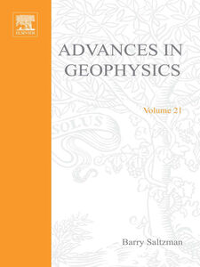 Ebook in inglese ADVANCES IN GEOPHYSICS VOLUME 21 -, -