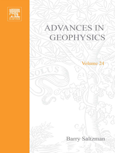 Ebook in inglese ADVANCES IN GEOPHYSICS VOLUME 24 -, -