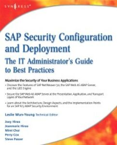 Ebook in inglese SAP Security Configuration and Deployment Hirao, Joey