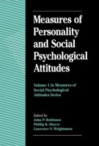 Ebook in inglese Measures of Personality and Social Psychological Attitudes -, -