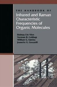 Ebook in inglese Handbook of Infrared and Raman Characteristic Frequencies of Organic Molecules Colthup, Norman B. , Fateley, William G. , Grasselli, Jeanette G. , Lin-Vien, Daimay