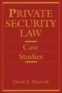 Ebook in inglese Private Security Law Maxwell, David
