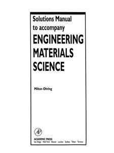 Foto Cover di Solutions Manual to accompany Engineering Materials Science, Ebook inglese di Milton Ohring, edito da Elsevier Science