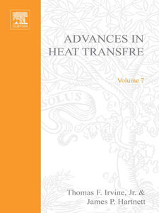Foto Cover di ADVANCES IN HEAT TRANSFER VOLUME 7, Ebook inglese di  edito da Elsevier Science