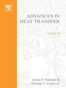 Ebook in inglese ADVANCES IN HEAT TRANSFER VOLUME 10 -, -