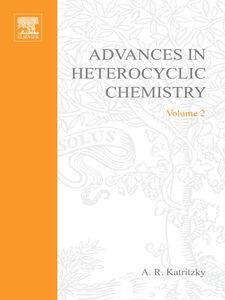 Foto Cover di ADVANCES IN HETEROCYCLIC CHEMISTRY V 2, Ebook inglese di  edito da Elsevier Science