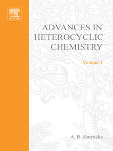 Ebook in inglese ADVANCES IN HETEROCYCLIC CHEMISTRY V 4