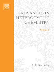 Ebook in inglese ADVANCES IN HETEROCYCLIC CHEMISTRY V 5 -, -