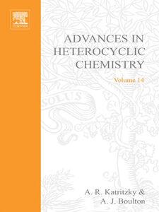 Ebook in inglese ADVANCES IN HETEROCYCLIC CHEMISTRY V14 -, -