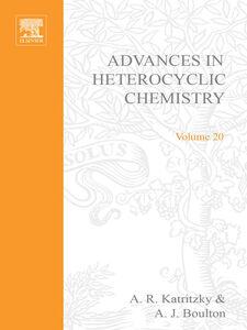Ebook in inglese ADVANCES IN HETEROCYCLIC CHEMISTRY V20