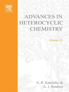 Ebook in inglese ADVANCES IN HETEROCYCLIC CHEMISTRY V25 -, -